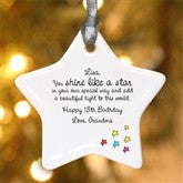 1-Sided You Shine Like A Star Personalized Ornament - 4912-1