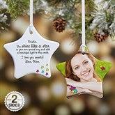 2-Sided You Shine Like A Star Personalized Photo Ornament - 4912-2