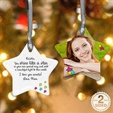 2-Sided You Shine Like A Star Personalized Photo Ornament - 4912-2
