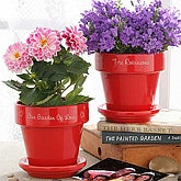 Our Family Blooms Flower Pot- Red - 4948-R