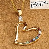 Mother's Heart Birthstone Necklace- 18k Gold-Filled - 4951D-G
