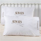 Kiss Me Goodnight Personalized Pillowcase Set - 4954