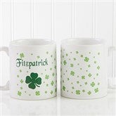Irish Clover Personalized Coffee Mug 11 oz.- White - 4989-S