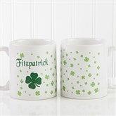 Irish Clover Personalized Coffee Mug 11 oz.- White - 4989-S