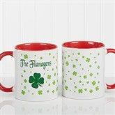 Irish Clover Personalized Coffee Mug 11 oz.- Red - 4989-R