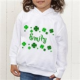 Lucky Clover Personalized Toddler Hooded Sweatshirt - 5039-CTHS