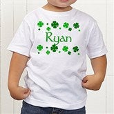 Lucky Clover Personalized Toddler T-Shirt - 5039-TT