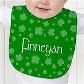 Lucky Clover Personalized Baby Bib - 5039-B
