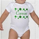 Lucky Clover Personalized Baby Bodysuit - 5039-CBB