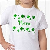 Lucky Clover Personalized Hanes® Youth T-Shirt - 5039YCT