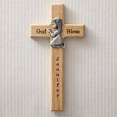 Personalized Wood Cross - Praying Girl - 5073-G