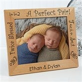 A Perfect Pair Personalized Twin Frame- 8 x 10 - 5085-L