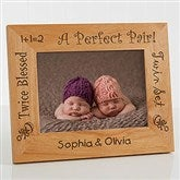 A Perfect Pair Personalized Twin Frame- 5 x 7 - 5085-M