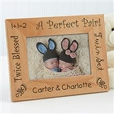 A Perfect Pair Personalized Twin Frame- 4 x 6 - 5085