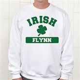 Irish Pride Personalized White Sweatshirt - 5138-WS