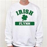 Irish Pride Personalized White Sweatshirt - 5138-WS