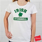 Irish Pride Personalized Ladies White Fitted Shirt - 5138-WLT