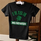 Irish Pride Personalized Ladies Black Fitted Shirt - 5138-BLT