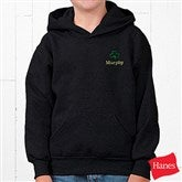 Shamrock Black Hooded Sweatshirt - Youth - 5154-Y