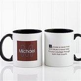 34 Quotes Personalized Coffee Mug 11oz.- Black - 5169-B