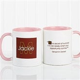 34 Quotes Personalized Coffee Mug 11oz.- Pink - 5169-P