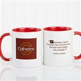 34 Quotes Personalized Coffee Mug 11oz.- Red - 5169-R