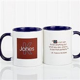 34 Quotes Personalized Coffee Mug 11oz.- Blue - 5169-BL