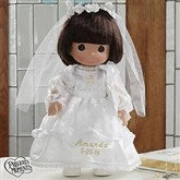 Precious Moments® Personalized Communion Doll- Brunette - 5232-BR