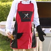 Grill Master Personalized 4pc Apron Set - 5261