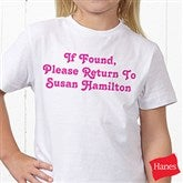 You Name It Personalized Hanes® Youth T-Shirt - 5278-YCT