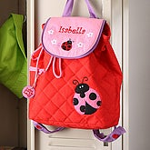 Ladybug Embroidered Backpack - 5301-L