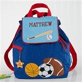 All Star Sports Embroidered Backpack by Stephen Joseph - 5302