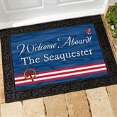 Welcome Aboard! Personalized Doormat- 18x27 - 5354