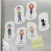 Family Character Collection Personalized Magnets - 5372