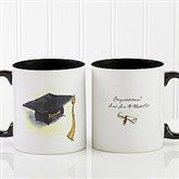 Cap & Diploma Personalized Coffee Mug 11oz.- Black - 5389-B
