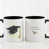 Cap & Diploma Personalized Coffee Mug 11oz.- Black - 5389-B