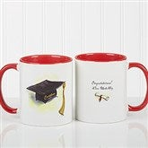 Cap & Diploma Personalized Coffee Mug 11oz.- Red - 5389-R