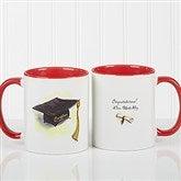 Cap & Diploma Personalized Coffee Mug 11oz.- Red - 5389-R