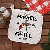 Master Of The Grill Personalized Potholder - 5428-AP