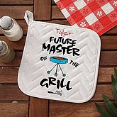 Future Master Of The Grill Personalized Potholder - 5428-YP