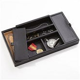 Executive Office Debossed Leather Valet Organizer
