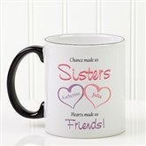 My Sister, My Friend Personalized Coffee Mug 11 oz.- Black - 5513-B