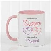 My Sister, My Friend Personalized Coffee Mug- 11 oz.- Pink - 5513-P