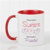 My Sister, My Friend Personalized Coffee Mug- 11 oz.- Red - 5513-R