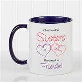 My Sister, My Friend Personalized Coffee Mug- 11 oz.- Blue - 5513-BL
