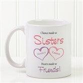 My Sister, My Friend Personalized Coffee Mug 11 oz.- White - 5513-S