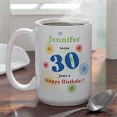 Confetti Birthday Personalized Mug- 15 oz. - 5528-L