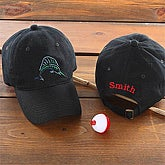 Fisherman© Personalized Cap- Black - 5569-B