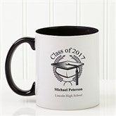 Graduation Cap Personalized Coffee Mug 11oz.- Black - 5612-B