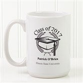 Graduation Cap Personalized Coffee Mug 15oz.- White - 5612-L
